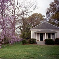 Scene from revitalized Old West Durham neighborhood, 1999