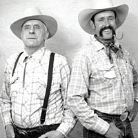 Father and son cowboy poets Harold and Bill Lowman, May 1997