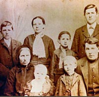 Jacob and Anna Friesen and their six children, 1883