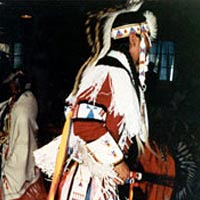 Native American Grass Dancer at Old West Pow Wow, 1992