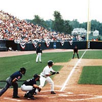 University of Miami (FL) plays Rice in the 1999 College World Series