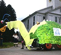 Y2K Bug float in the Hancock Old Home Days parade, August 1999