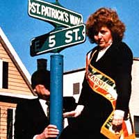 "Grand Marshal renames parade route ""St. Patrick's Way"" , 1991"