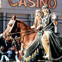 Arabian horses and riders in Nevada Day Parade