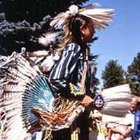 Shoshone-Paiute entry in Fair Parade, September 1999