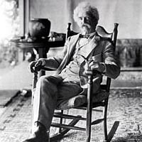 Mark Twain on the porch at Quarry Farm