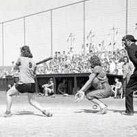 Women's Softball Game at Jones Beach, 1948