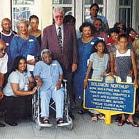 Northup descendants with mayor after presentation of historical marker, July 1999