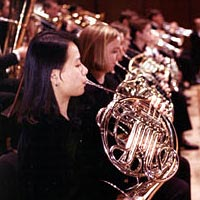 Members of the Eastman Wind Ensemble