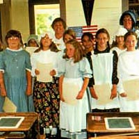 Students on last day of Miss Eliza's Summer Session, 1997