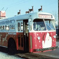 The first Dayton Xmas trolley, 1967
