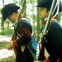 Two re-enactors portray members of Wayne's Legion, 1998