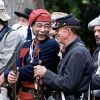 "Ninth Virginia Confederate Infantry chat before ""battle."""