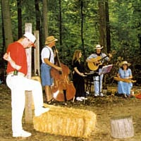 "The ""Shade Tree Musicians"" at the Little Mountain Folk Festival, 1997"