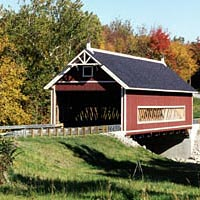 The Netcher Road Covered Bridge was completed in October 1999
