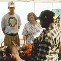 Local farmers offer their produce for sale at Findlay Market, August 1998