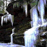 Old Man's Cave Gorge in winter