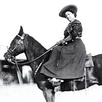 May Manning Lillie, ca. 1890, Pawnee Bill Wild West Show
