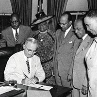President Harry Truman signs bill proclaiming February 1 as National Freedom Day