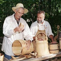 Coopering is demonstrated