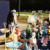 Glass items for sale at Festival