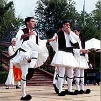 Troupe Hellas Dance Group performs at May 2000 Greek Festival