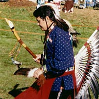 Traditional Catawba dancer, Nov. 1999