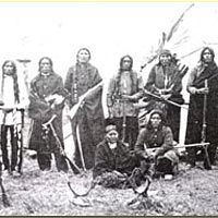 Indian scouts near Ft. Sisseton, c. 1870