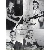 Four musicians who made records at Sun Studios: Jerry Lee Lewis, Elvis Presley , Johnny Cash, Carl Perkins