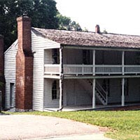 Dover House, where Confederate General Simon Buckner surrendered to U.S. Grant, February 16, 1862