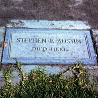 Marker at Place of Austin's Death