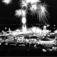 Buccaneer Days Carnival and fireworks in late 1950s