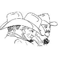 Sketch of cowboy poets
