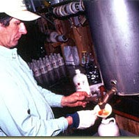 Maple syrup being bottled by Jay Eagle