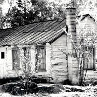 Original log cabin school house, built ca. 1870