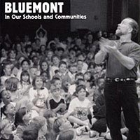John McCutcheon at Hartwood Elementary School on Cover of Bluemont Brochure