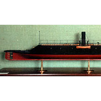 Model of Merrimac (CSS Virginia) which fought USS Monitor on March 9, 1862