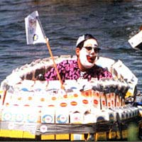 Clown at the Milk Carton Derby