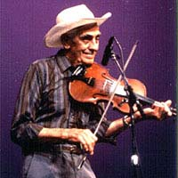 Fiddler Melvin Wine, born in Braxton County, WV, in 1909