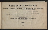 The Virginia harmony [hymnal]