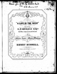 A life in the west [Sheet music]