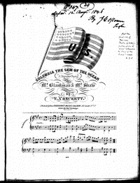 Columbia the gem of the ocean [sheet music]
