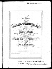 Drennon polka quadrilles [Sheet music]
