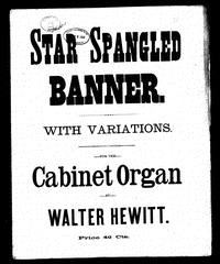 Star spangled banner; with variations [sheet music]