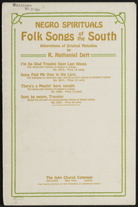 Don't be weary, traveler motet on a negro folk song motif : for six-part unaccompanied chorus of mixed voices. [vocal score]
