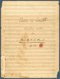 Peace on earth Christmas anthem : op. 38. [manuscript score]