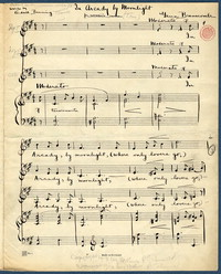 In Arcady by moonlight: for women's voices. [manuscript score]