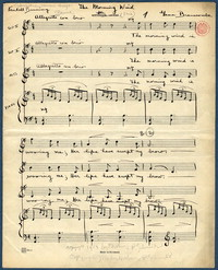 The morning wind: (trio). [manuscript score]
