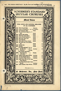 Two Negro spirituals [vocal score]
