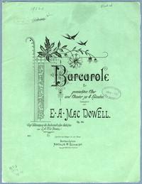 Barcarole für gemischten Chor und Clavier zu 4 Händen Op. 44 [vocal score]